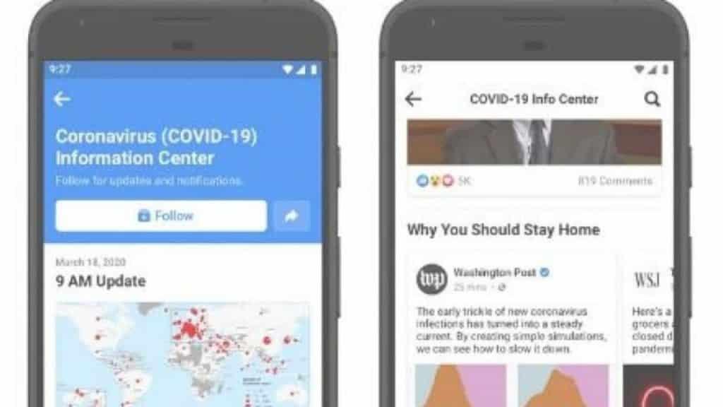 facebook corona virüs bilgi merkezi