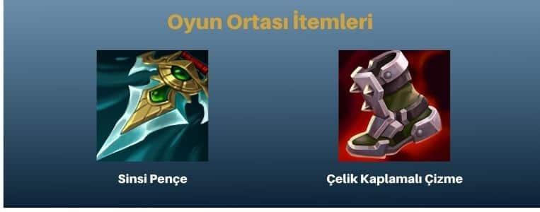 Darius Oyun Ortası İtemleri