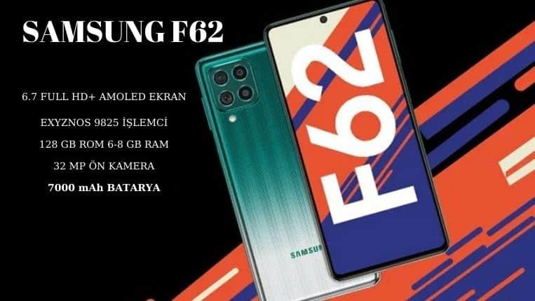 Samsung F62 özellikleri